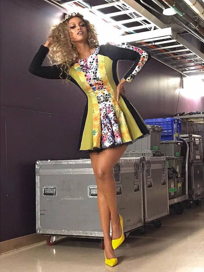 Tyra posts a photo of her OOTD backstage