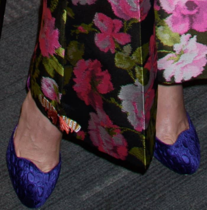 "Demi Moore wearing blue Christian Louboutin shoes at the premiere of ""Blind"" in New York City"