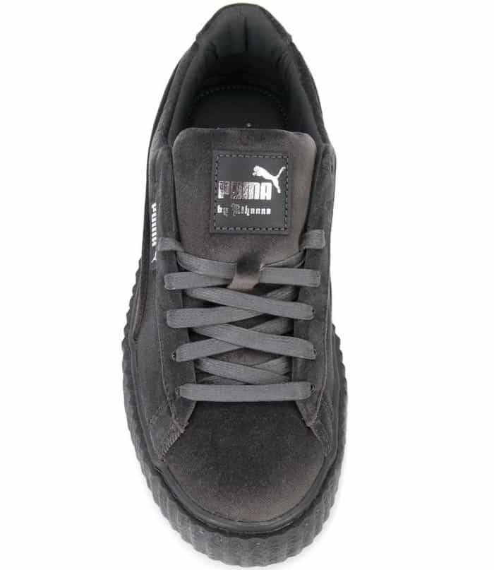 Fenty Puma by Rihanna lace-up creepers in grey velvet