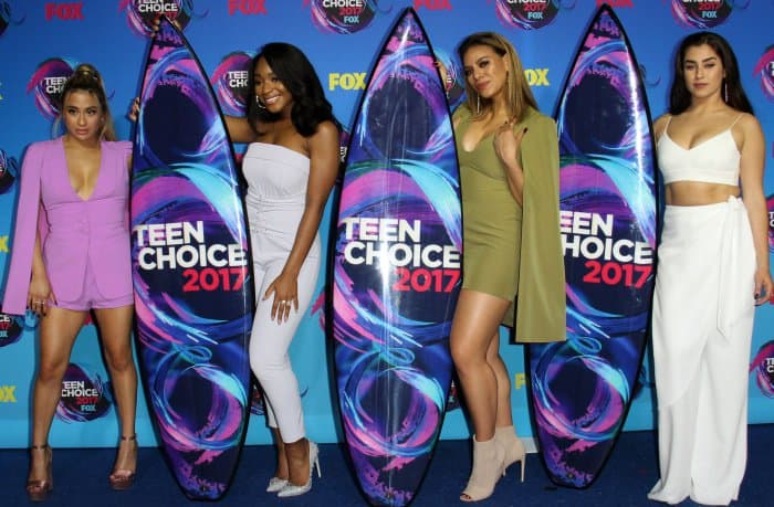 Fifth Harmony in complementary Lavish Alice looks at the 2017 Teen Choice Awards