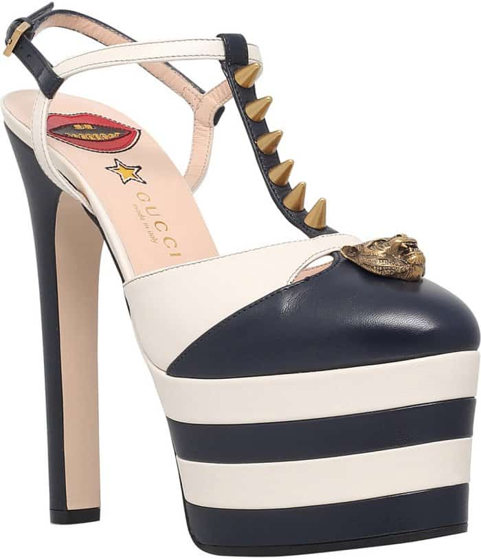 "Gucci ""Angel"" spiked leather platform shoes"