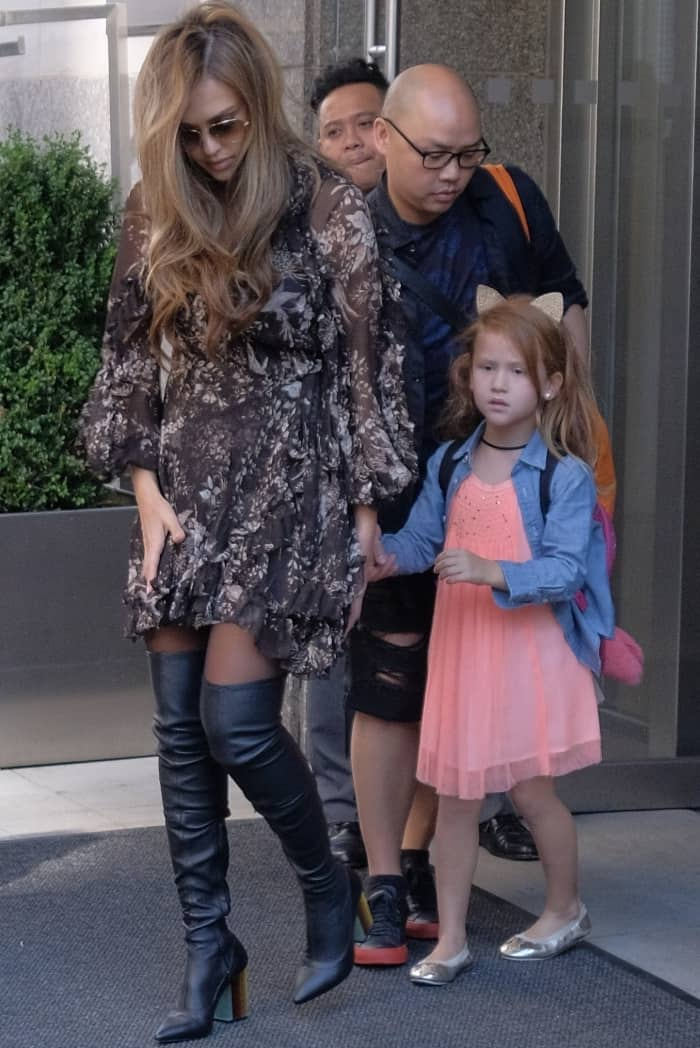 Jessica Alba out and about with daughters Haven Garner and Honor Marie Warren