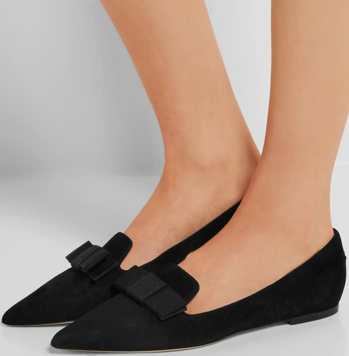 "Jimmy Choo ""Gala"" flats in black suede"