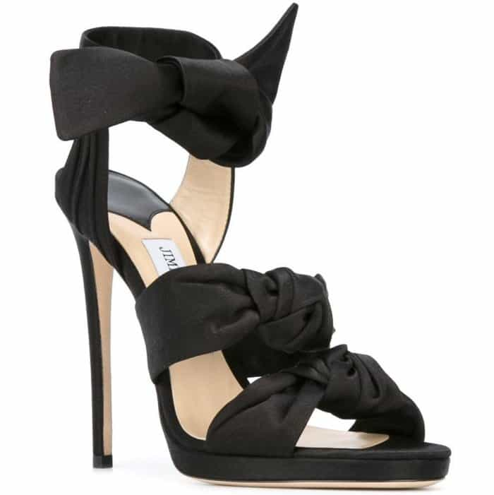 Feminine knotted bows and towering stiletto heels
