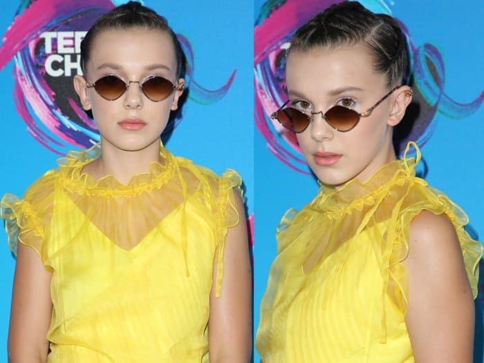 Millie Bobby Brown's Chrome Hearts diamond-shaped sunglasses