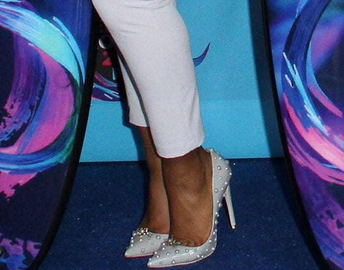 Normani Kordei wearing Thom Solo spiked pumps at the 2017 Teen Choice Awards