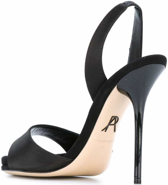 "Paul Andrew ""Liva"" sandals in black leather"