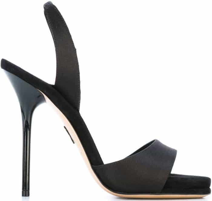 "Paul Andrew ""Liva"" sandals in black leather"