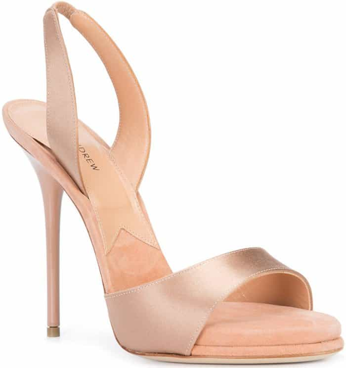 "Paul Andrew ""Liva"" sandals in blush suede"