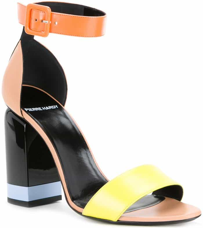 "Pierre Hardy ""Memphis"" sandals in yellow and orange"
