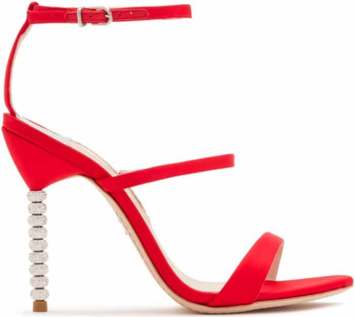 """Sophia Webster """"Rosalind Crystal"""" sandals in red satin"""