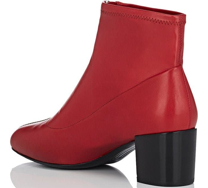 "Stella Luna ""Zipper 50"" booties in red"