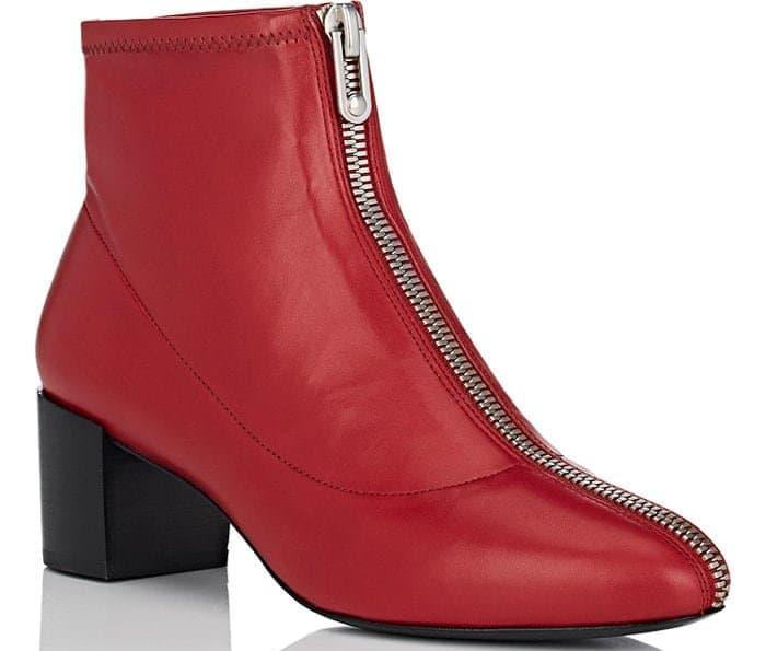 """Stella Luna """"Zipper 50"""" booties in red"""