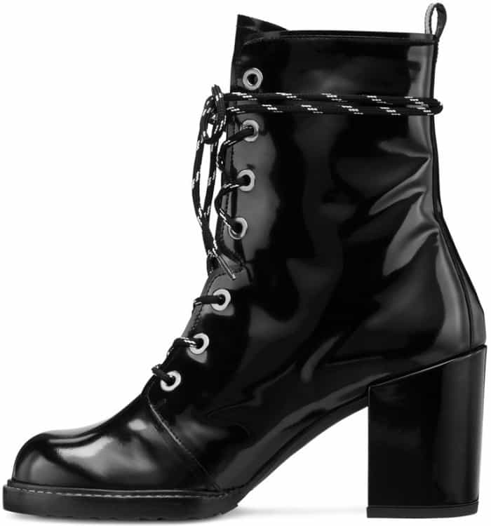 "Stuart Weitzman ""Climbing"" lace-up ankle boots"