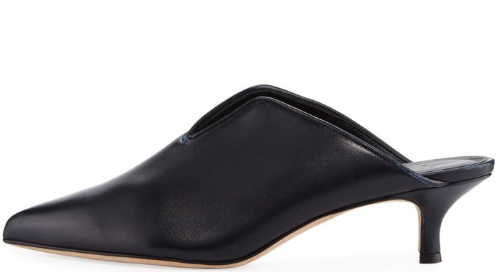 "Tibi ""Dana"" mules in black leather"