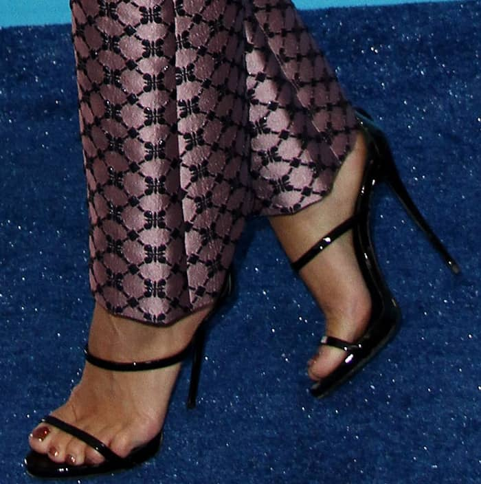 "Vanessa Hudgens wearing Giuseppe Zanotti ""Harmony"" sandals at the 2017 Teen Choice Awards"