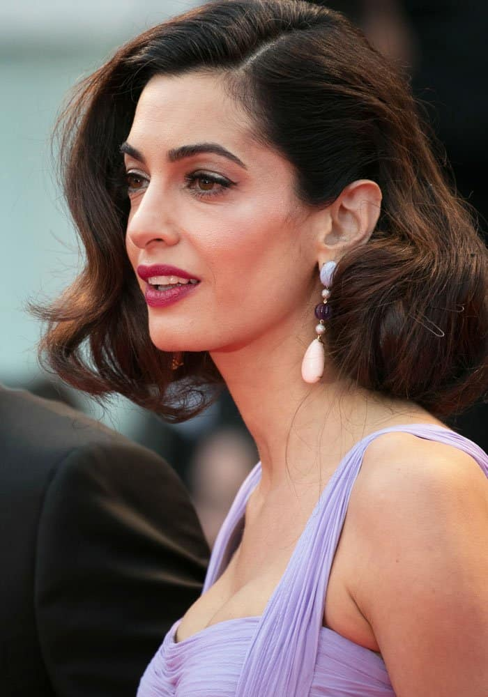 """Amal Clooney at the red carpet screening of """"Suburbicon"""" during the 74th Venice Film Festival at Sala Grande in Venice, Italy on September 2, 2017"""