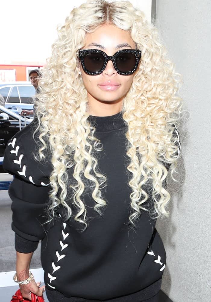 Blac Chyna at the Los Angeles International Airport (LAX) on September 20, 2017