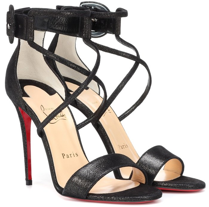 We love the curved caged silhouette that defines Christian Louboutin's Choca 100 sandals