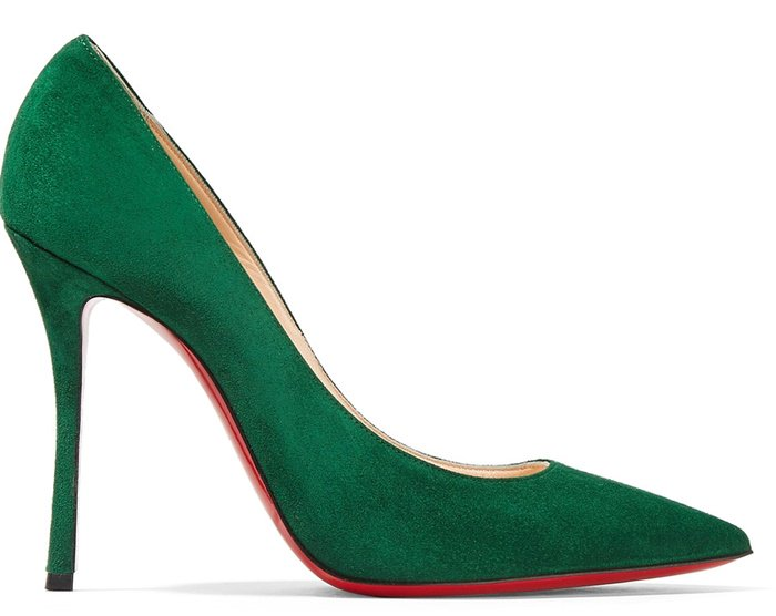 Christian Louboutin Decoltish 100m suede pumps