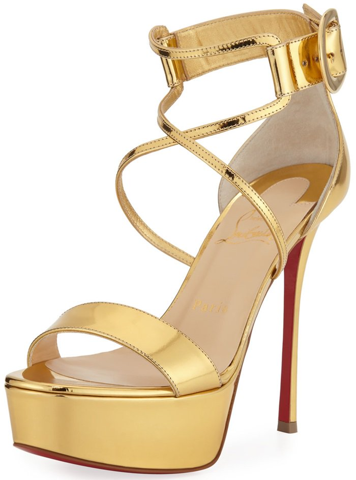 Choca Specchio Red Sole Sandals