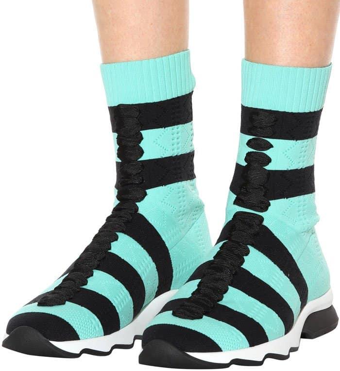Fendi high-top sock sneakers