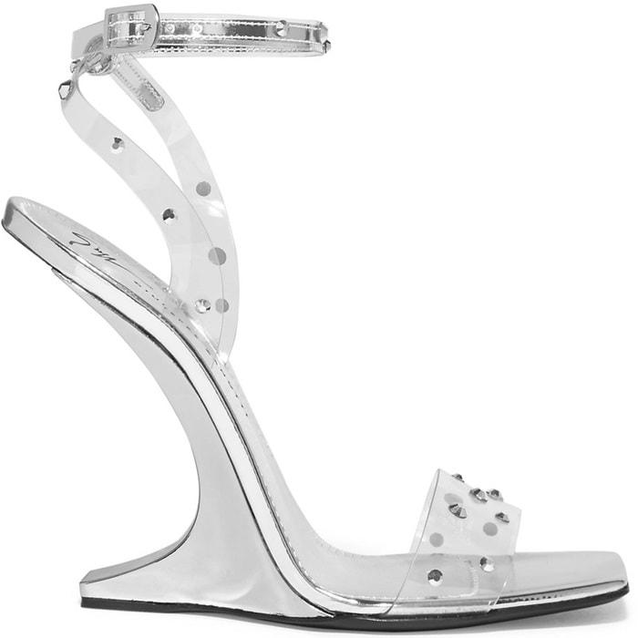 Giuseppe Zanotti 'Garconne' Crystal-Embellished PVC Sandals