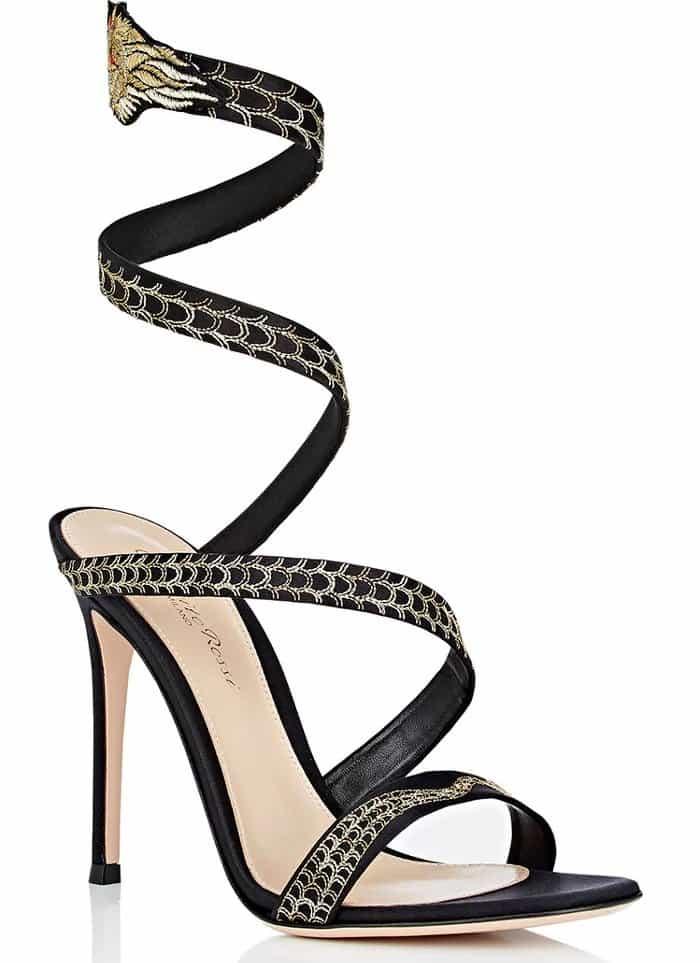 Gianvito Rossi Dragon Ankle-Wrap Sandals