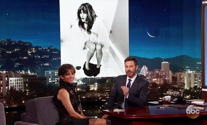 Halle Berry Guests On Jimmy Kimmel Live In Jimmy Choo