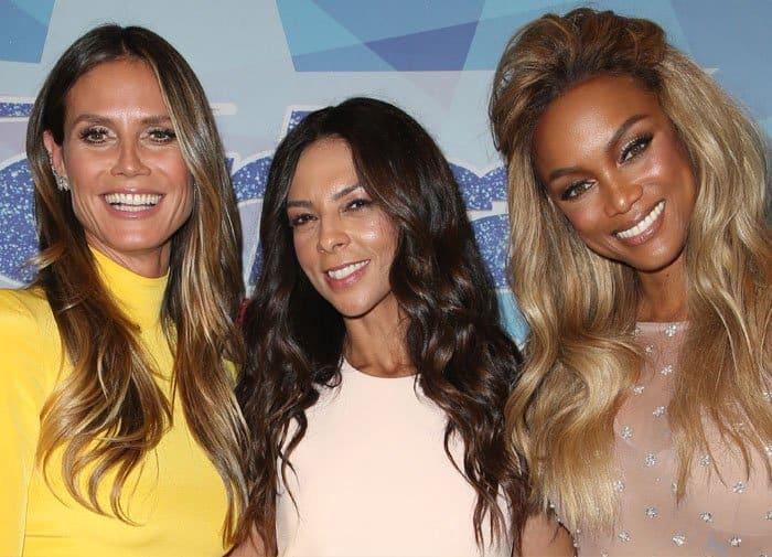 Heidi poses with Terri Seymour and AGT host Tyra Banks