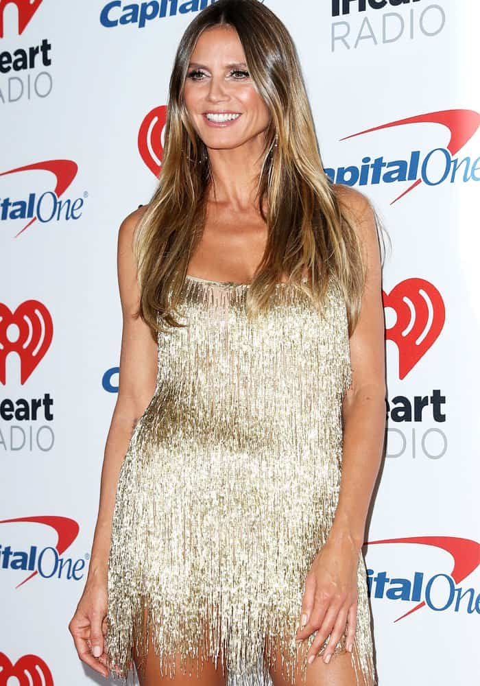 Heidi Klum at the iHeartradio Music Festival held at the T-Mobile Arena in Las Vegas on September 22, 2017