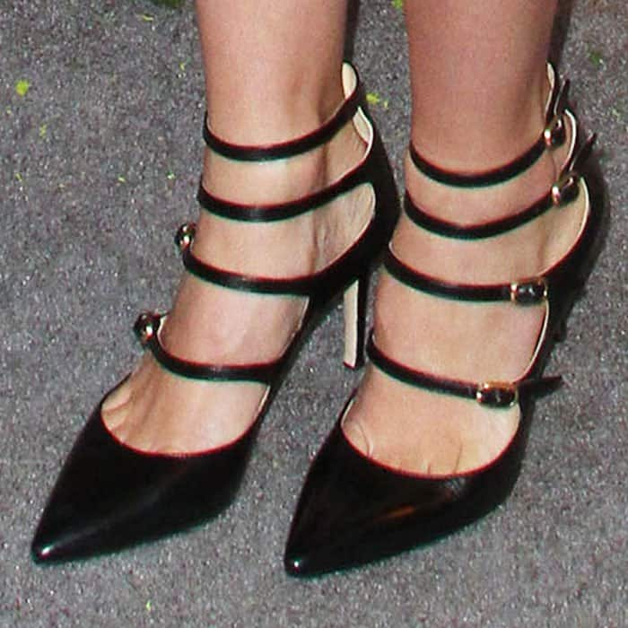 January Jones added a school girl feel with Marion Parke's Mitchell shoes