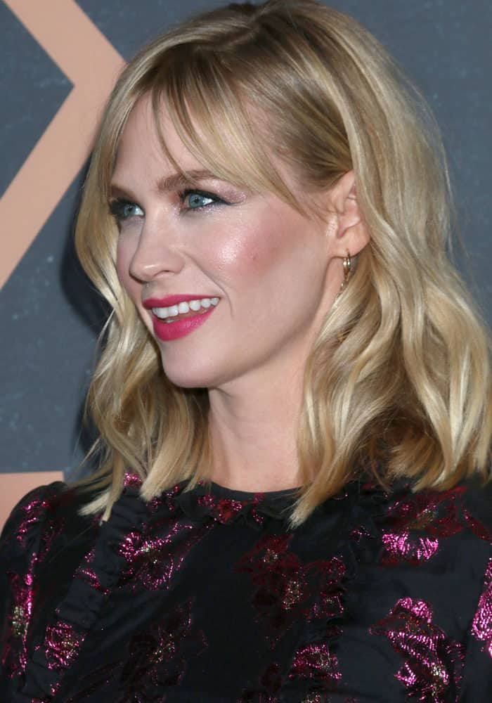 January Jones was dolled up in shades of pink