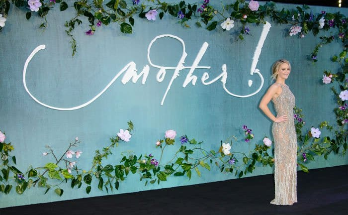 "The actress debuts ""Mother!"" in London, which is her darkest film to date"
