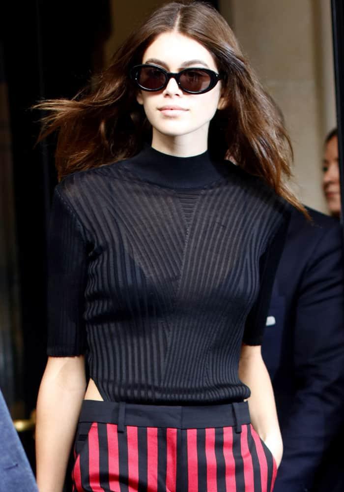 American model and actress Kaia Gerber sin Paris