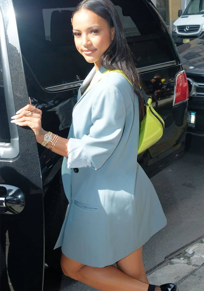 """The actress leaves """"The Wendy Williams Show"""" in style"""