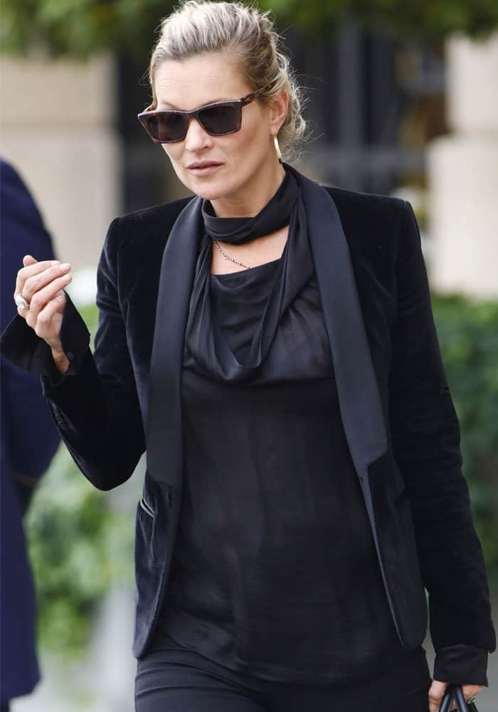 Kate Moss was spotted running around the City of Romance
