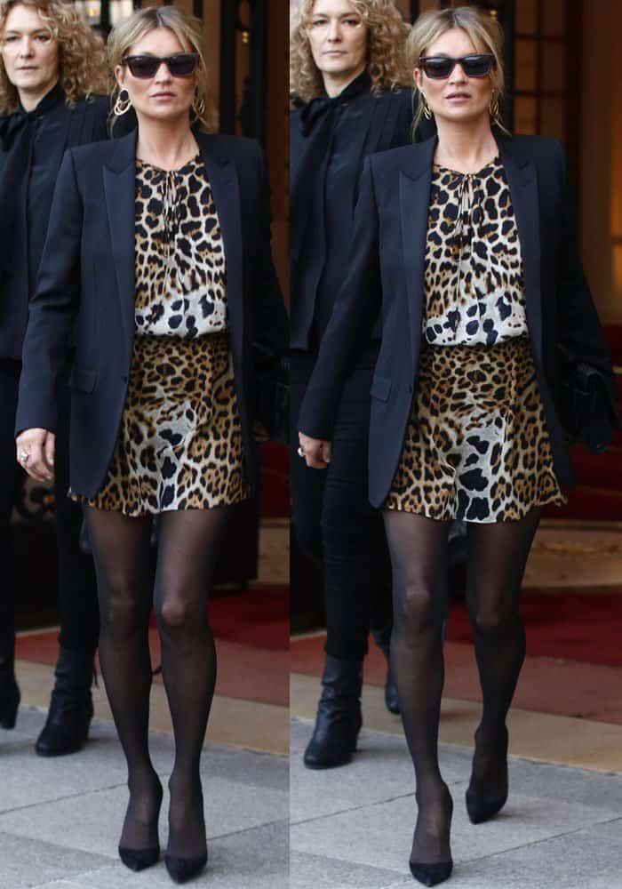 Kate wears head-to-toe Saint Laurent
