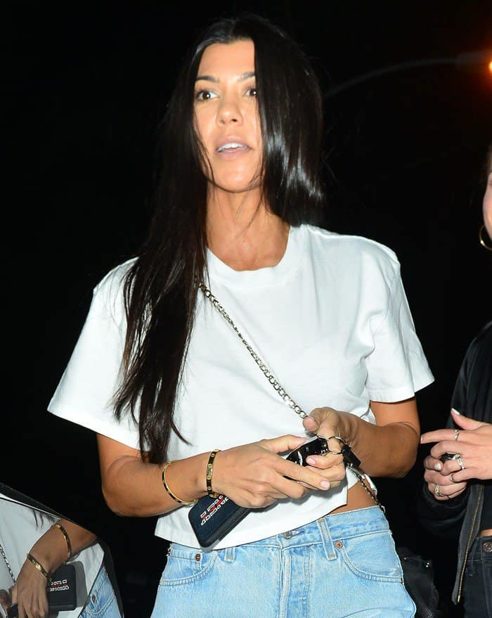 Kourtney Kardashian leaves Church service in 'casual fashion' in Beverly Hills on September 13, 2017