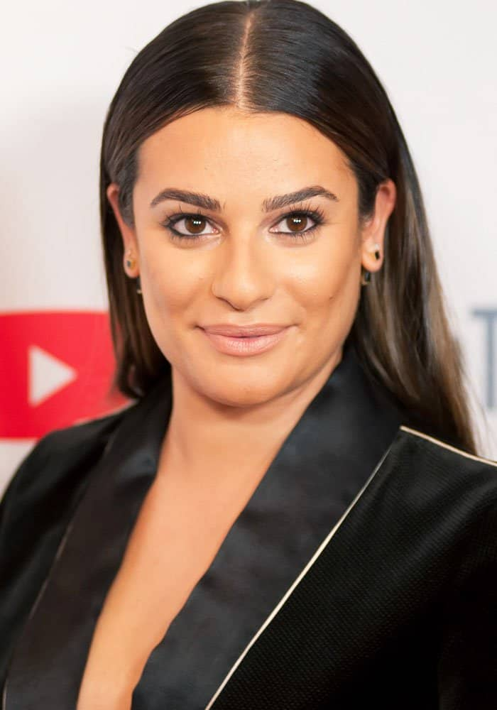 Lea Michele at theABC Tuesday Night Block Party with YouTube at the Crosby Street Hotel in New York on September 23, 2017