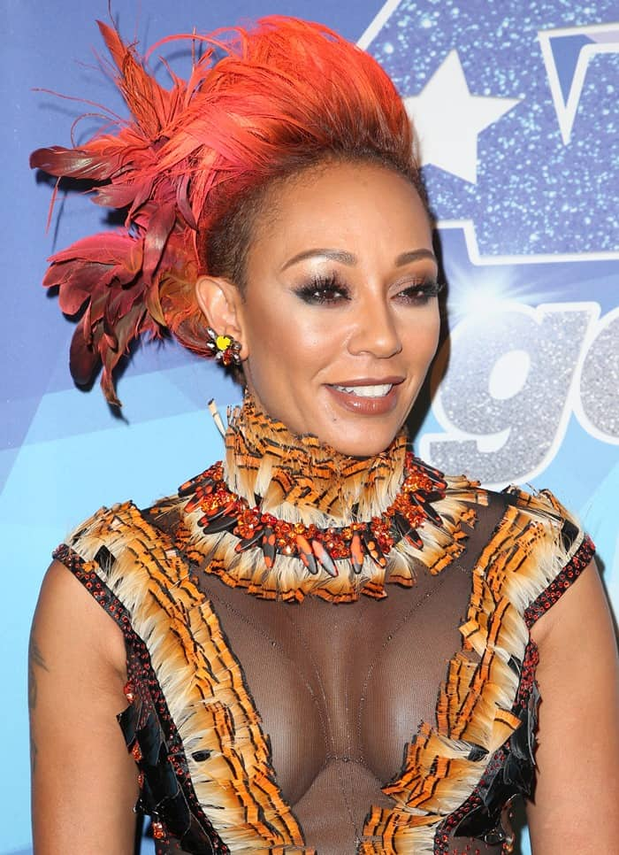 Mel B Flashes Cleavage In Disastrous Sheer Halloween Dress