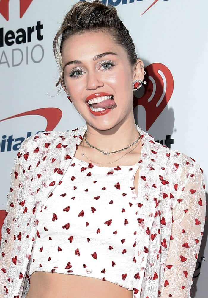 Miley Cyrus at theiHeartRadio Music Festival held at the T-Mobile Arena in Las Vegas on September 23, 2017
