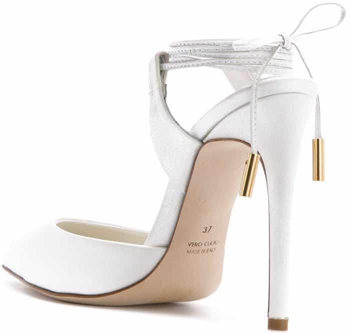 Olgana Paris ankle lace pumps
