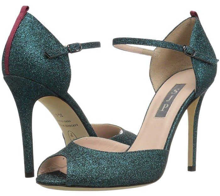 SJP by Sarah Jessica Parker Ursula glitter d'orsay sandals