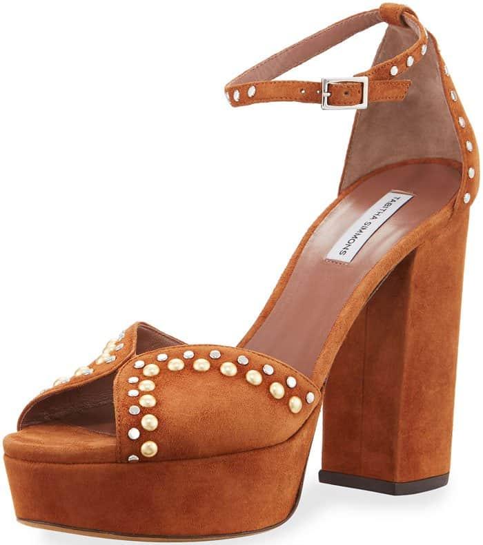 Tabitha Simmons Julieta studded platform sandals