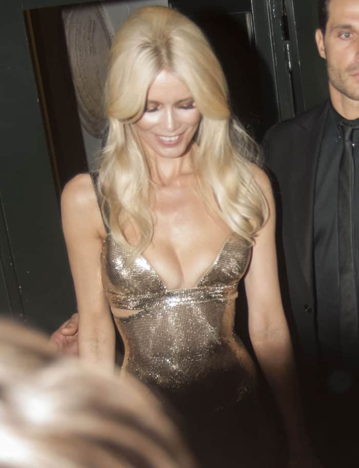 Claudia Schiffer celebrates 30 years in the modeling industry