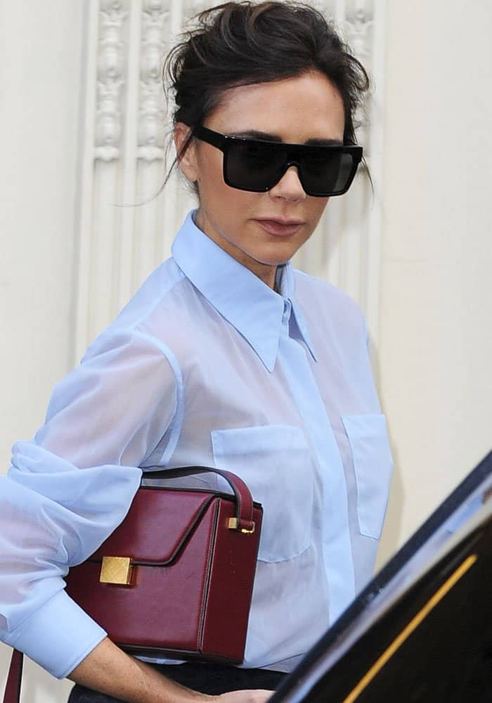 4f3c8922a5 Victoria Beckham Tours Her Dover Street Store Wearing Latest Collection