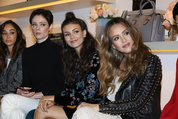 """It seemed like the """"Victorious"""" star had an amazing time at the event snapping photos alongside Jessica Alba and Coco Rocha and even posting a selfie on Instagram."""