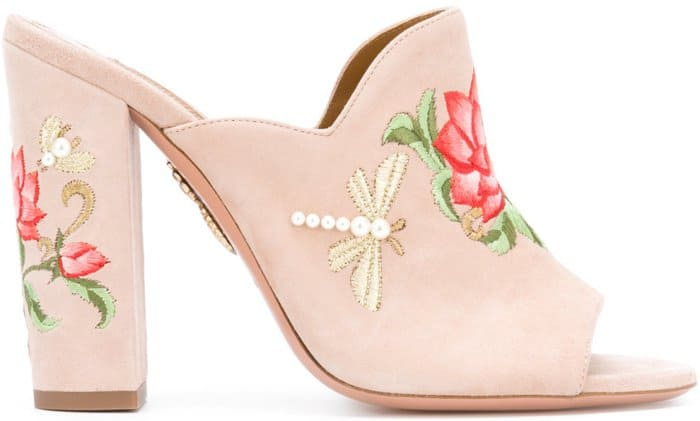 "Aquazzura ""Lotus"" mules"
