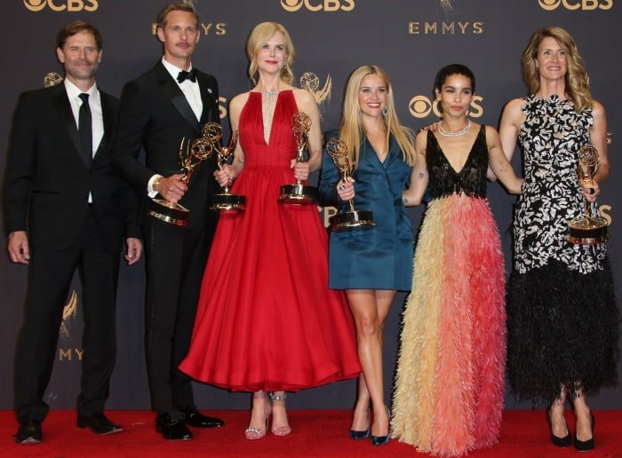 "The cast of ""Big Little Lies"" at the 69th Emmy Awards"